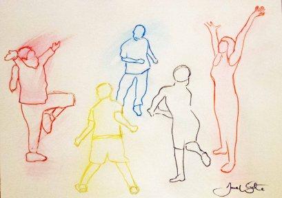 """dance art"", ""dance illustration"", ""dance drawing"", ""abstract dance art"", ""figurative dance art"", ""dave white artist"""