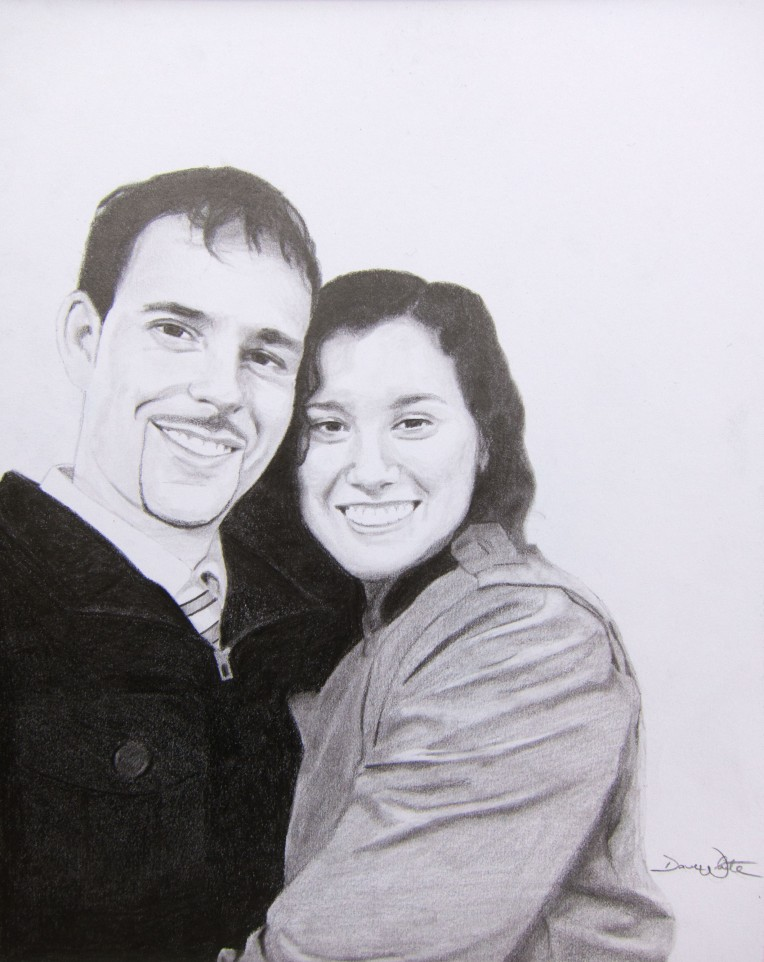 Dave and Brigitta Portrait Drawing