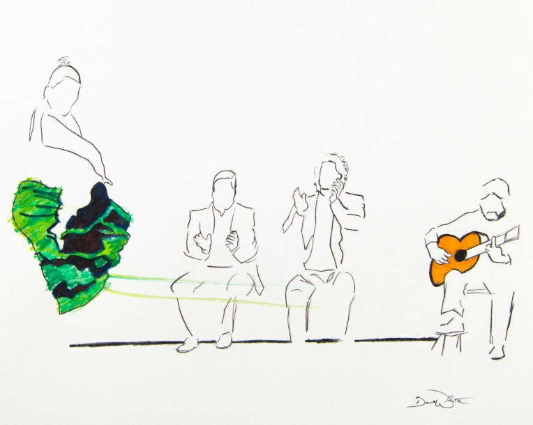 spain art, spanish art, flamenco art, flamenco illustration, flamenco drawing, spain drawing, spain illustration, spanish art, spanish drawing, dave white art, dave white artist