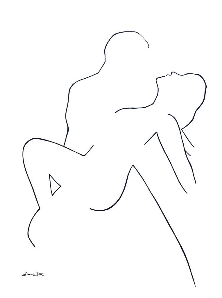 couple dancing art, couple dancing drawing, dance art, dance drawing, dave white art, dave white artist
