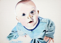 baby artist, baby painting, baby portrait painting