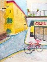 spain art, spanish art, spain painting, spanish painting, cafe painting, artist dave white, dave white paintings