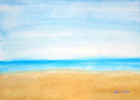 """beach watercolor"", ""seascape watercolor"", ""beach wall art"", ""beach art print"", ""seascape art print"", ""seascape painting"", ""dave white artist"", ""beach painting"""