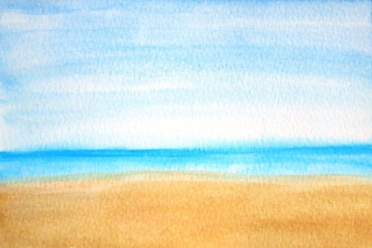 beach painting, beach art, artist dave white, abstract beach, impressionism beach, ocean art, ocean painting