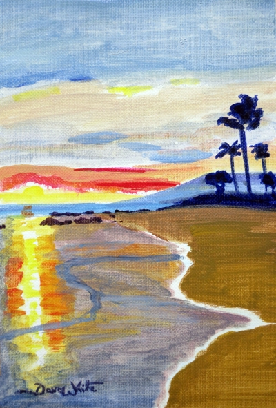 """beach painting"", ""dave white paintings"", ""dave white artist"""