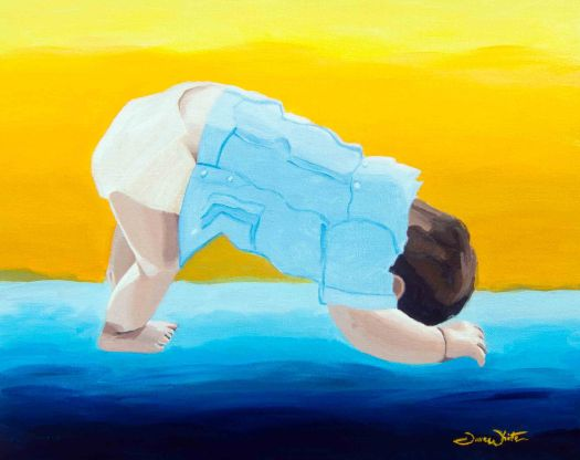 yoga art, yoga, art, downward dog art, down dog, downward dog, baby yoga, yoga artist, artist dave white