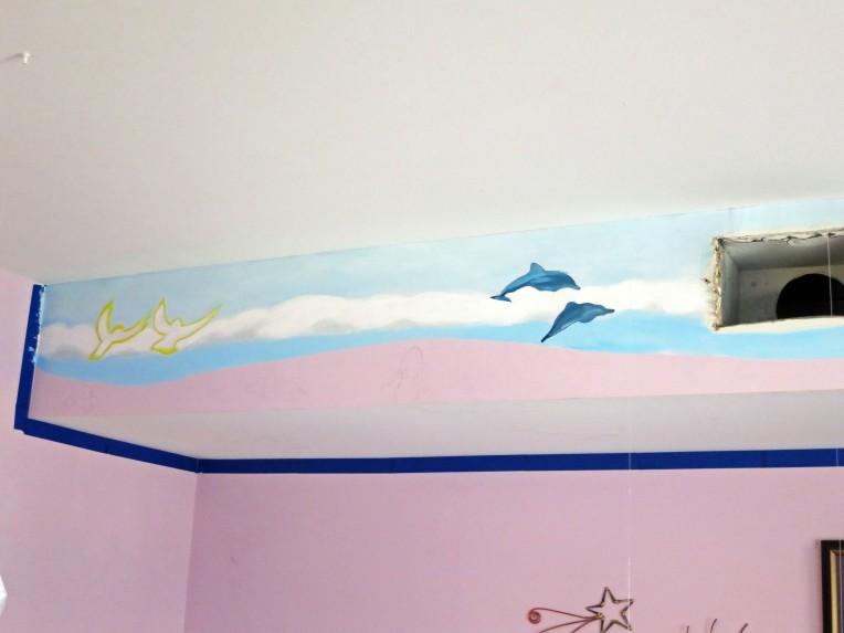 ocean life mural, ashburn artist