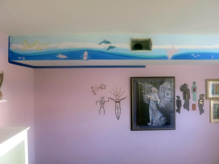 ocean life mural, ashburn mural, ashburn artist