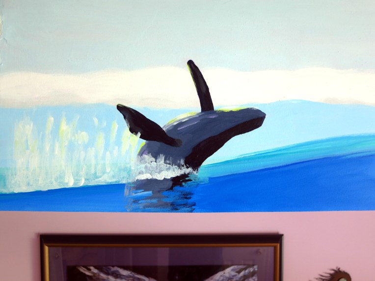 Ocean Life Mural Progress