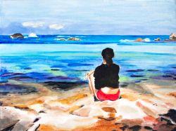 formentera, art, painting, beauty in formentera, spain, artist dave white, dave white art, dave white paintings