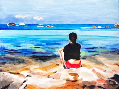 formentera, art, painting, beauty in formentera, spain, artist dave white, dave white art, dave white paintings