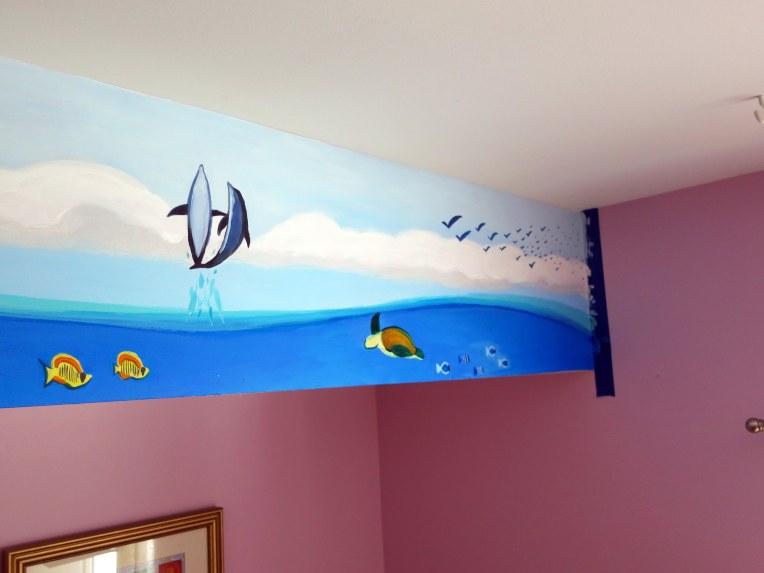 Ocean Life Mural Progress 2