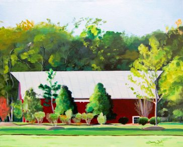 red barn painting, one loudoun, artist dave white