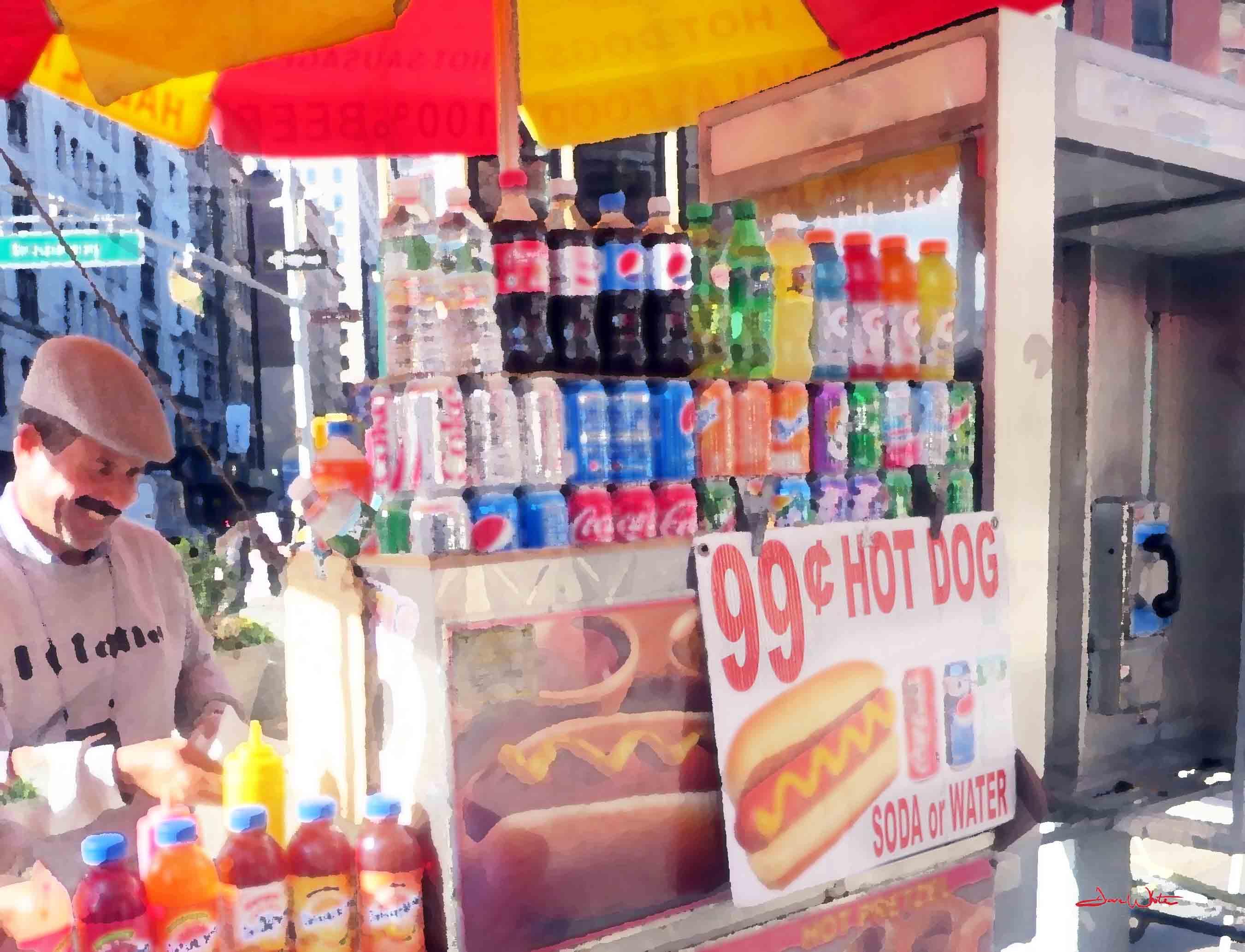 99 Cents Hot Dog NYC Artist Dave White Ashburn VA