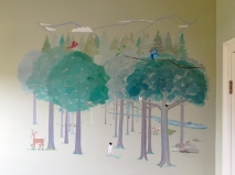 forest mural, forest friends, forest painting, mural painting, mural, kids mural, boys mural, animals mural, forest animals mural, forest animals art