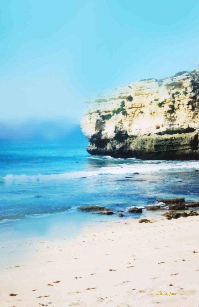 beach photography, beach art, beach photograph, peaceful beach, small beach, sao rafael portugal, sao rafael, algarve