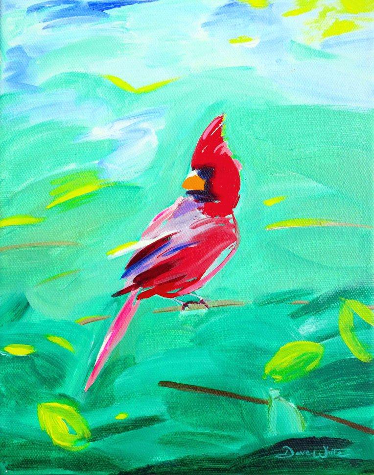 cardinal art, cardinal painting, cardinal bird art, cardinal bird painting, red bird, red bird art, red bird painting, cardinals painting, cardinals art, cardinal
