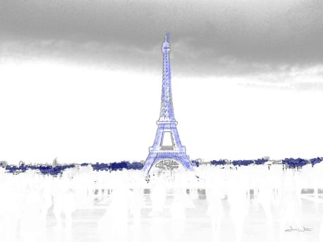 eiffel tower art, eiffel tower, french art, france art, paris art, artist dave white, dave white art