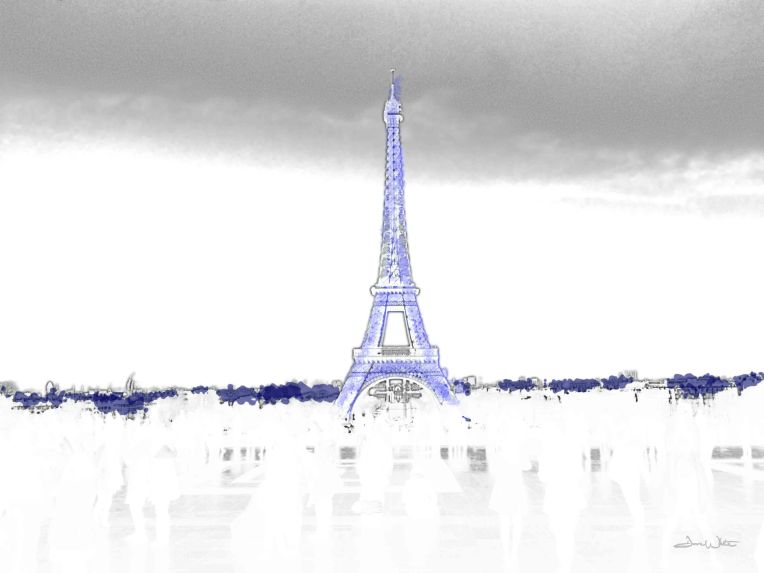 eiffel tower art, eiffel tower, artist dave white, dave white art