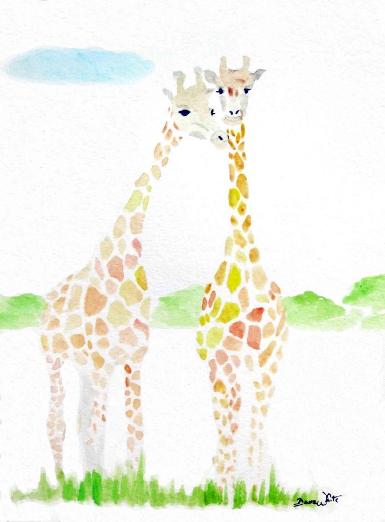giraffe, giraffes, giraffe art, giraffe painting, giraffes art, giraffes painting, animal art, giraffe love, artist dave white, dave white art