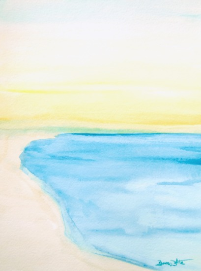 beach painting, beach art, beach sunrise, sunrise painting, seascape painting, sea painting, ocean painting