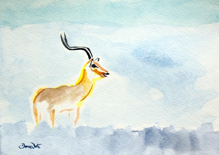 antelope painting, antelope art