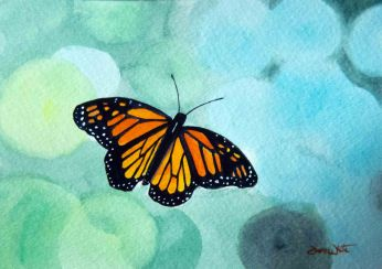 monarch butterfly, monarch butterfly painting, butterfly painting, butterfly art