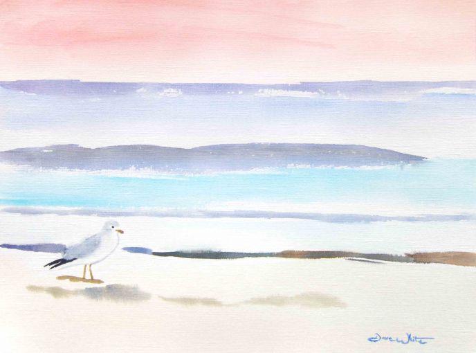 """seagull watercolor"", ""dave white artist"", ""nursery beach art"", ""ashburn artist"", ""loudoun artist"", ""leesburg artist"", ""beach pastel art"", ""seagull nursery art"""
