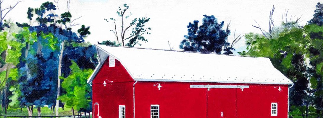 One Loudoun Barn Oil Painting by Ashburn Artist Dave White
