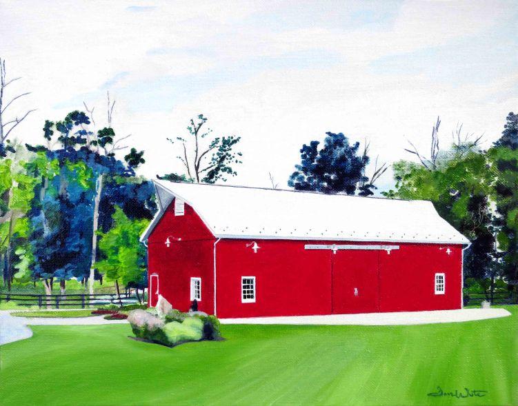One Loudoun Barn Oil Painting by Ashburn Artist Dave White