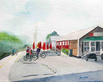 ashburn, ashburn virginia, ashburn art, ashburn painting, w&od trail ashburn, w&od trail painting, washington and old dominion trail