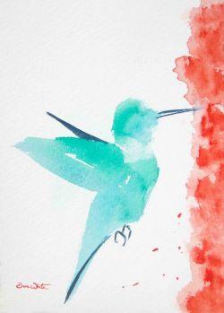 hummingbird, hummingbird painting