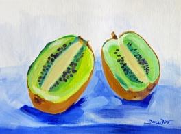 kiwi painting, fruit painting, fruit art, kiwi, kiwi art, fruit still life