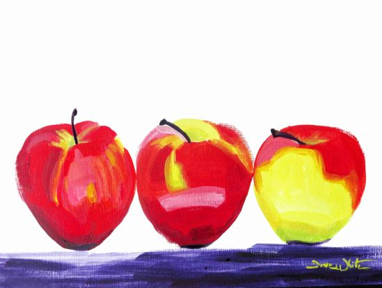 apple painting, apples painting, food painting, dave white art, dave white artist, still life painting, original apples painting