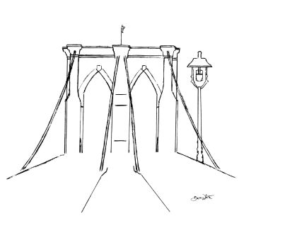 """brooklyn bridge"", ""brooklyn bridge drawing"", ""brooklyn bridge art"", ""brooklyn bridge illustration"""