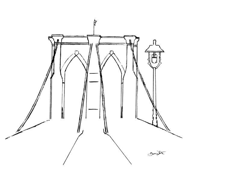 """brooklyn bridge"", ""brooklyn bridge drawing"", ""brooklyn bridge art"", ""brooklyn bridge illustration"""