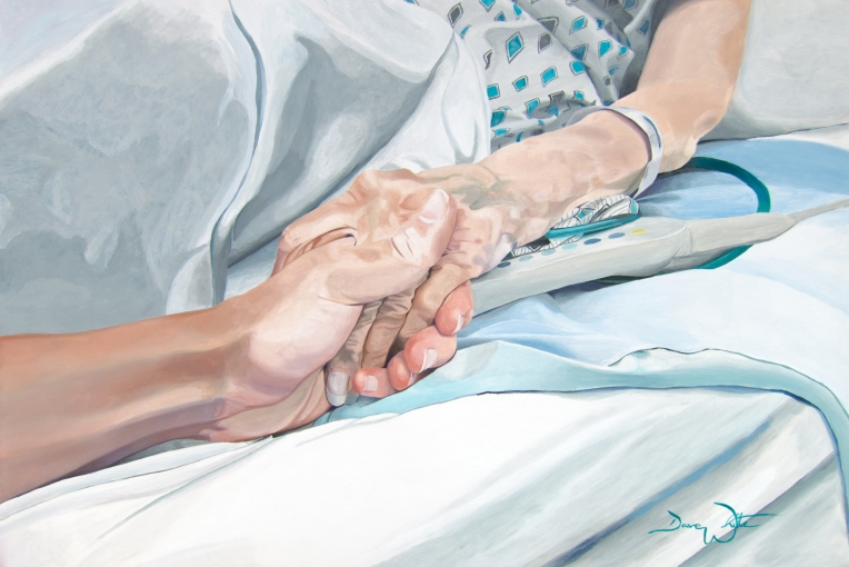 """holding hands painting"", ""family painting"", ""love painting"", ""grandmother painting"", ""grandma painting"", ""artist dave white"", ""ashburn artist"""
