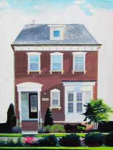 ashburn va artist, ashburn virginia artist, artist dave white, house portrait artist, house portrait painting, one loudoun artist