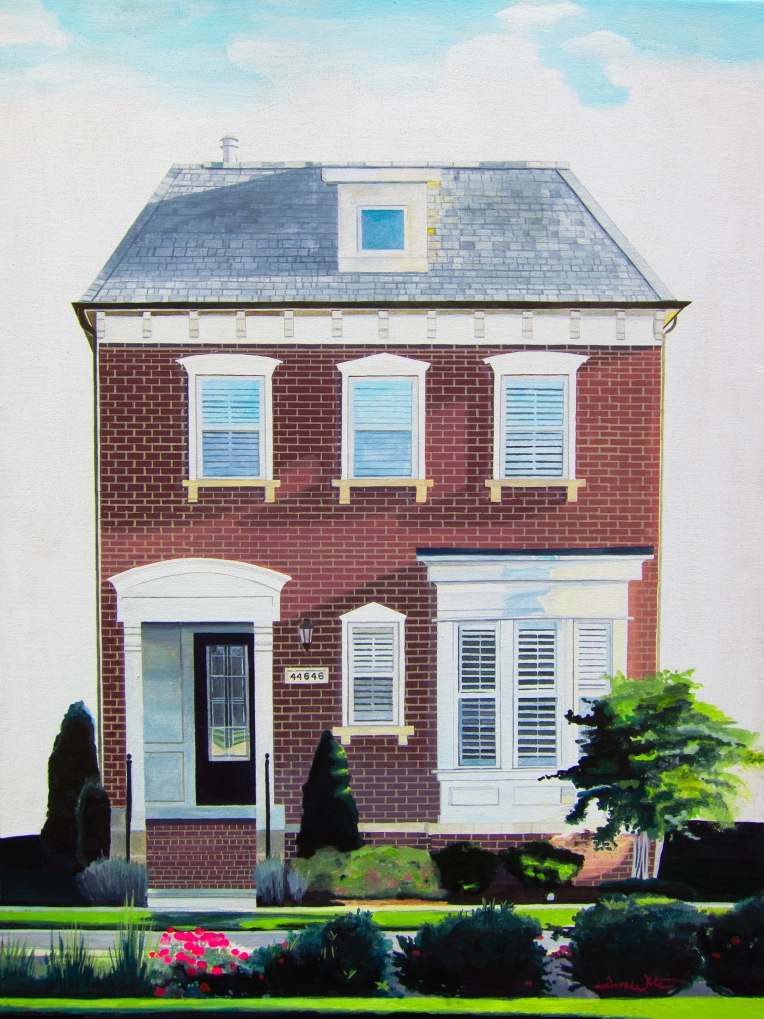 ashburn va artist, ashburn virginia artist, artist dave white, house portrait artist, house portrait painting, one loudoun artist