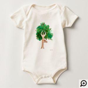 """organic baby yoga shirt"", ""baby yoga shirt"", ""tree pose baby shirt"", ""organic baby clothing"""