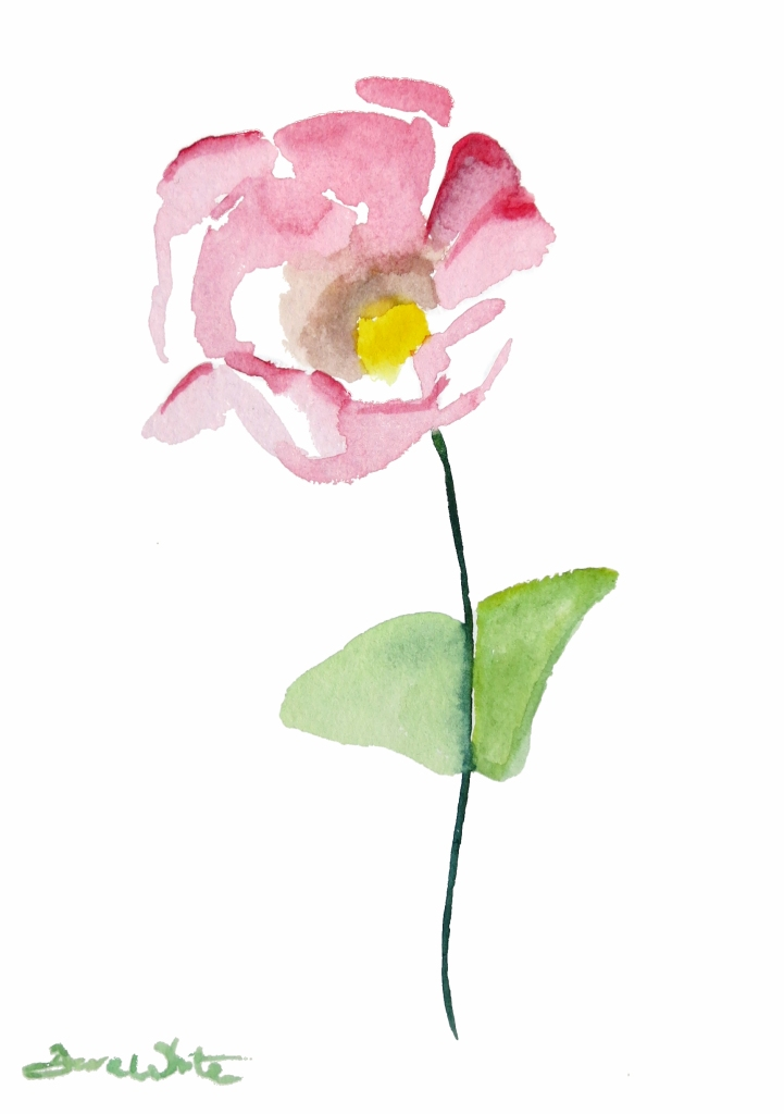 """pink flower painting"", ""pink flower art"""