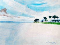"""florida beach painting"", ""florida beach art"", ""beach painting"", ""beach oil painting"", ""florida seascape"""