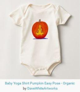 """pumpkin baby onesie"", ""yoga baby onesie"""