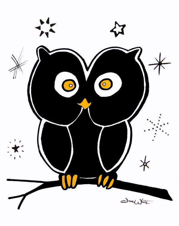 Spooky Owl Halloween Art – Artist Dave White