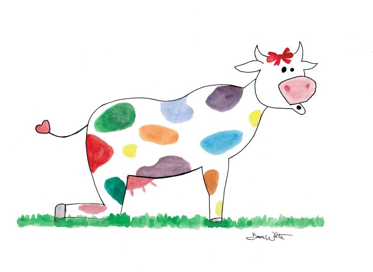 """cow pose"", ""cow pose art"", ""kids yoga art"""