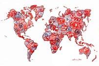 """world map painting"", ""world map art"", ""world map watercolor"""