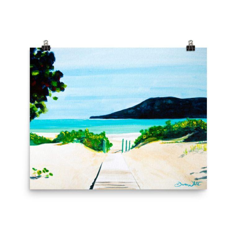 """""""flamenco beach painting"""", """"flamenco beach art"""", """"puerto rico art"""", """"puerto rico watercolor"""", """"isla culebra painting"""", """"culebra island painting"""""""