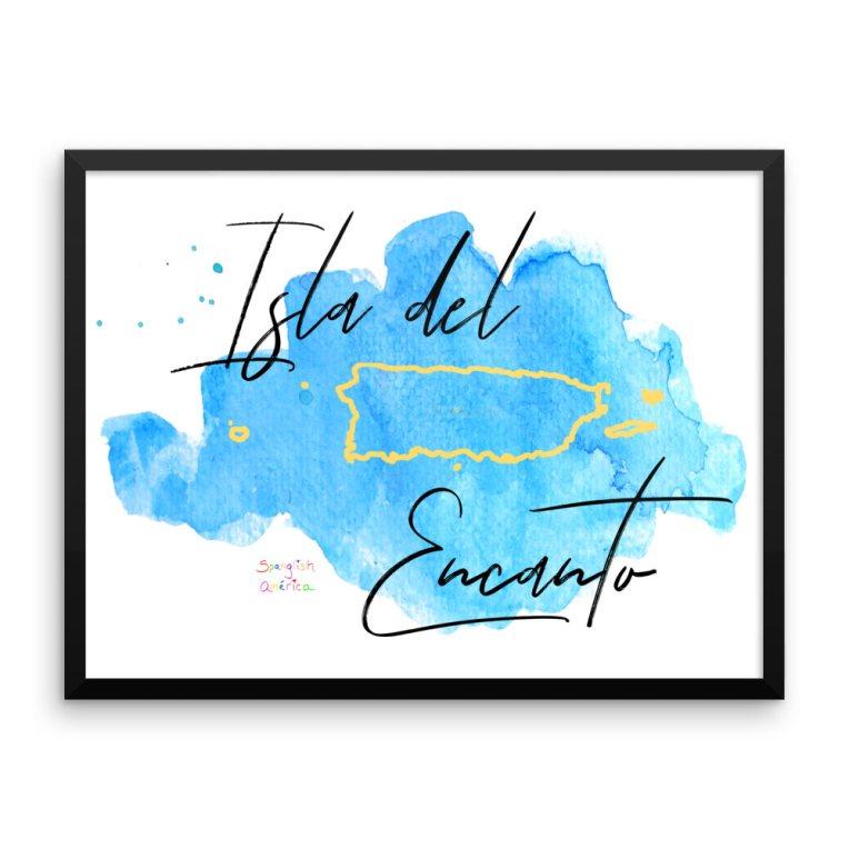 """puerto rico art"", ""puerto rico poster"", ""isla del encanto poster"", ""boricua art"", ""puerto rico wall art"", ""puerto rico map art"""