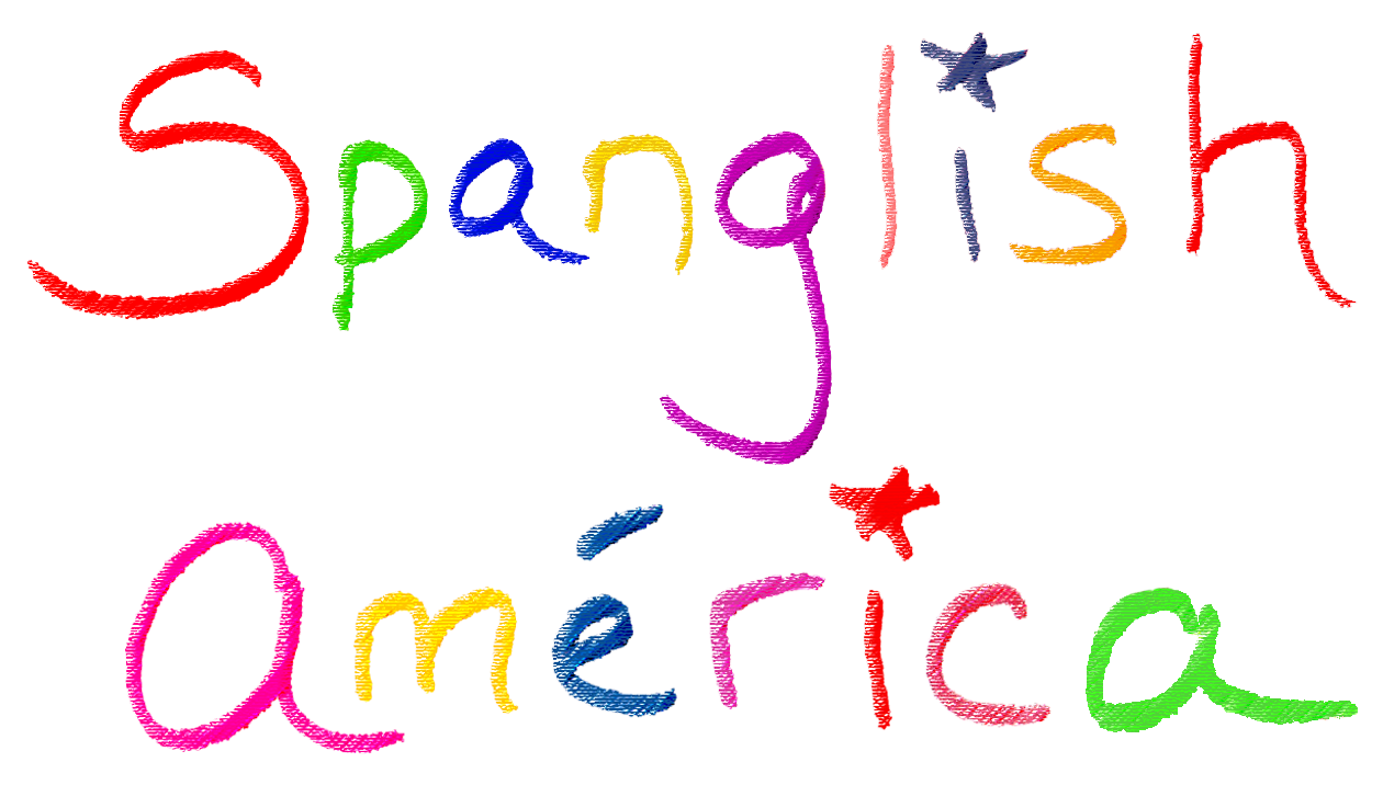 Spanglish America Paintings and graphic designs in Spanish and Spanglish on art prints and mugs!