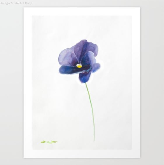 """flower art print"", ""ultra violet flower"", ""ultra violet art print"", ""ultra violet wall art"""